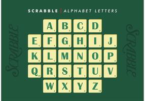Scrabble Alfabet Letters Vector Gratis