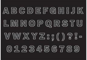 Zilver Metalen Grill Font Vector Type