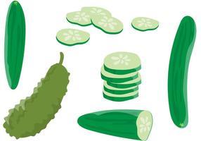 Komkommersvectoren vector