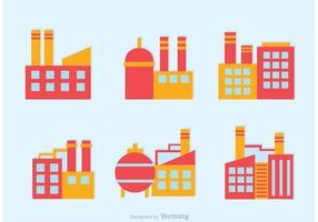 Heldere Vector Fabriek Pictogrammen