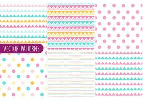 Kleurrijke schetsmatige patroon vector set