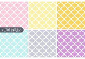 Pastel Geometrische Vector Patroon Set