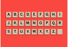 Scrabble letter tegels set vector
