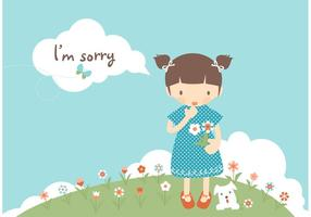 Gratis Ik ben Sorry Card Vector