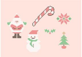 Kruissteek kerst set vector