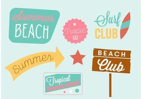 Summertime Beach Vector Elementen