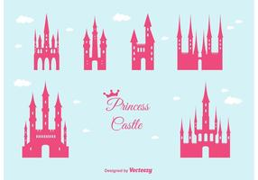 Prinses Kasteel Vector Set