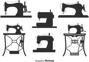 Inzameling van vintage naaimachinevectoren