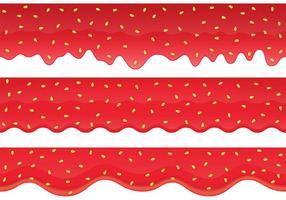 Aardbeien Jam Border Vectors