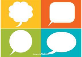 Speech bubble vector labels