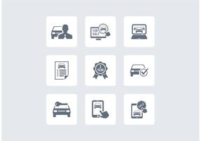 Gratis Auto Dealership Vector Pictogrammen