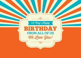 Kleurrijke Verjaardag Illustratie