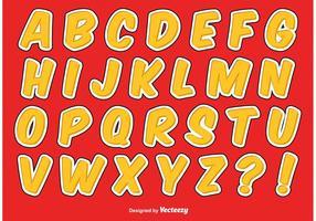 Comic Style Alfabet Set vector