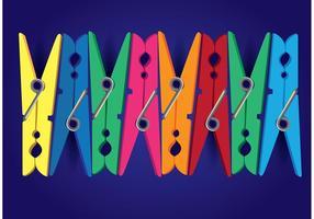 Clothespin Kleurrijke Vector