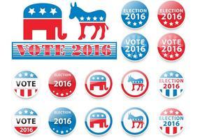 Verkiezingen 2016 Vectoren