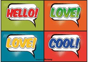 Comic style labels vector