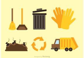 Recycleer platte pictogrammen vector