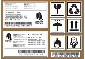 Pakket Vector Labels
