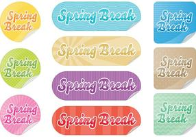 Spring Break Sticker Vectoren