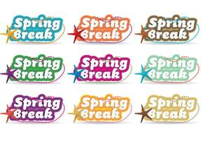 Spring break vectoren