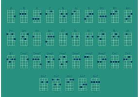 Ukulele akkoorden vector set