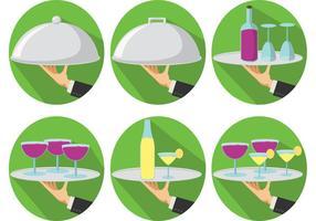 Platte butler service vectoren