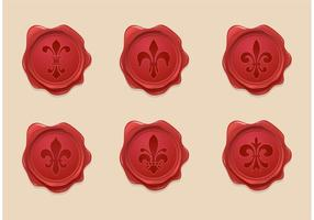Gratis Fleur De Lis Wax Seal Vector Set