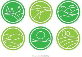 Cirkelvormige Vector Rolling Hills Icons