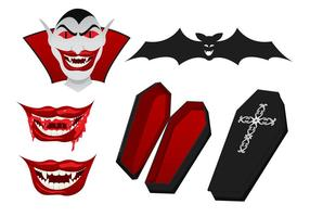 Dracula Vector Elementen