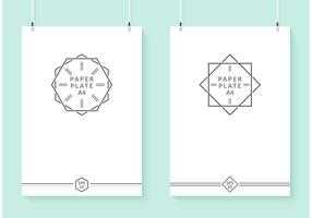 Gratis Hangende Vector Papierplaten