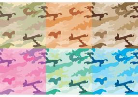 Camouflagepatroonvectoren vector