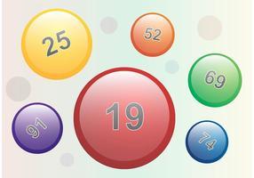 Lotto ballen vector