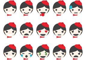 Mime emoticons vector