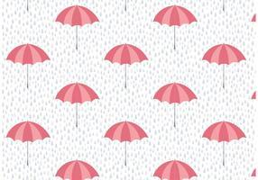 Paraplu en Regen Vector Patroon