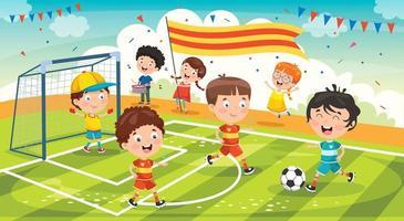 kleine kinderen vieren kampioensoverwinning