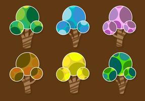 Abstracte seizoensgebonden bomen