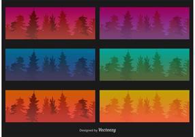 Landschap Banner Achtergronden vector