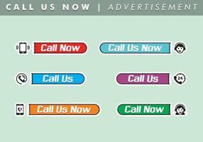 Bel ons nu Advertentie vector