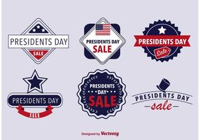 Presidenten badges vector