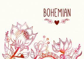 Gratis Boheemse Bloem Vector Illustratie