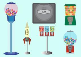 Bubble gum machines vector