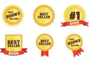 Bestsellers Boek Badges Vector