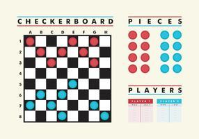 Checker board vector gratis
