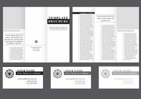 Minimale Vouw Brochure Vector