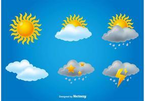 Meteorologie Iconset vector