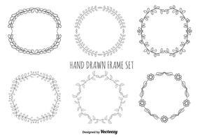 Hand getrokken frame set