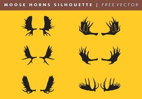 Moose Horns Silhouette Vector Free