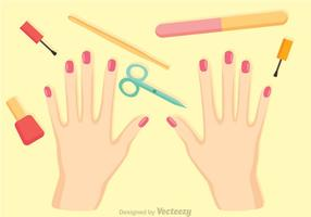 Manicure Procedure Vector