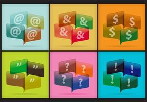 Punctuatie Speech Bubble Vectors