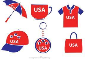 Vector Merchandise Gemaakt In De VS